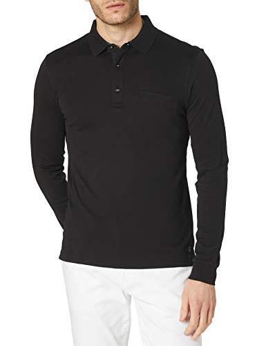 Pierre Cardin Herren Longsleeve Interlock Uni Polo-Pullover, Black, M