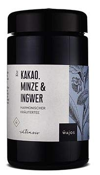 Kakao, Minze & Ingwer Tee 55g in hochwertigen Aroma Glas I Wajos Gourmet