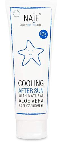 NAÏF Kühlendes After-Sun Gel mit Aloe Vera, After-Sun für Kinder und Baby, ohne aggressive Chemikalien, 100 ml
