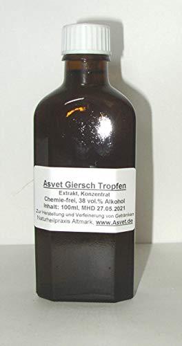 Asvet Giersch Extrakt, 100ml als Tropfen, Gichtkraut Tinktur, auch zur Herstellung von Tee, Geißfuß Konzentrat ohne Chemie, handgemacht
