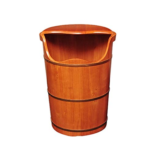 Great Price! NCHEOI Pedicure Foot Bath Barrel Covered Foot Basin Solid Wood Foot Bath Thickened Foot...