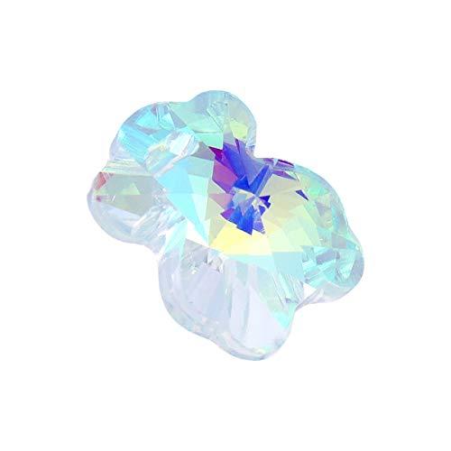 Milisten 28pcs 14mm cristal ab cristal encantos abalorios colgante diy aurora gemas...
