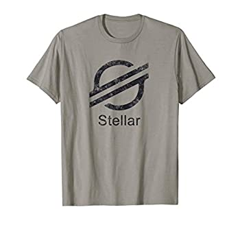 STELLAR LUMENS XLM Crypto Blockchain Token Dark Logo T-Shirt