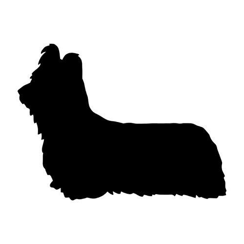 OLUYNG Etiqueta engomada del Coche 12,6 * 9,5 CM Skye Terrier Perro Vinilo calcomanía Lindo Reflectante Pegatinas de Coche camión decoración de Estilo de Coche Negro/Plata S1-0395