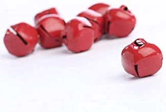 """Jingle Bells for Crafts - Package of 48 Shiny Red 5/8"""" Diameter Jingle Bells foring, Crafting and Creating"""