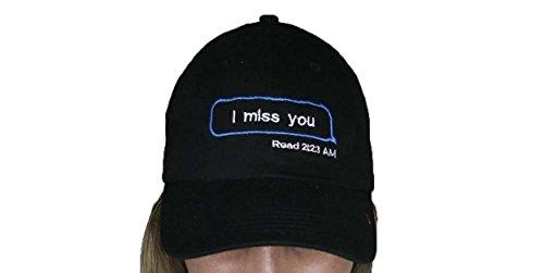 I Miss You Read Drunk Text iMessage Bubble Black Baseball Cap