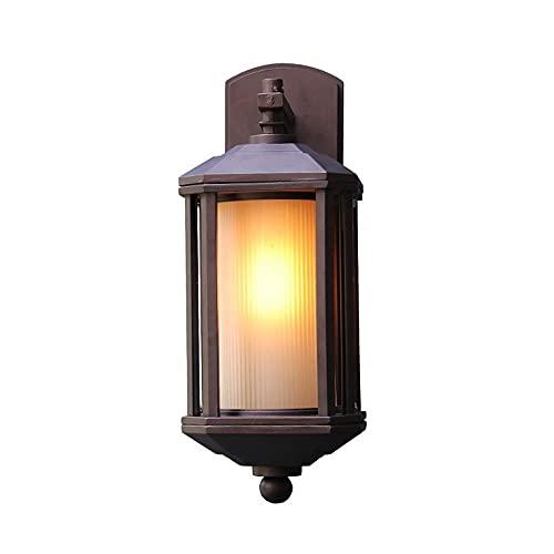 Zziyj E27 Al Aire Libre Impermeable Iluminación Pared Escono E26 Edison Vintage Lámpara De Pared Antigua Lámpara De Pared Accesorios Bar Restaurante Restaurante Iluminación Decoración 1 Paquete De Luz