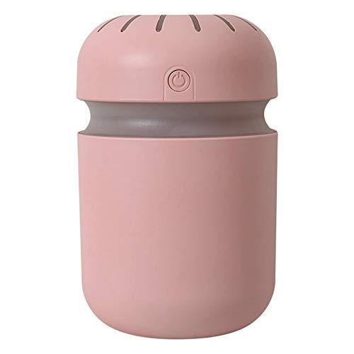 TOOGOO Cool Mist Humidifier Humidificadores de Aire, Purificador Difusor PortáTil EléCtrico USB para Sala de Estar del Dormitorio del Hogar, Rosa