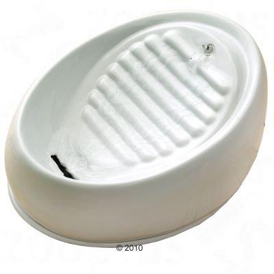 Wangado -Fontanella in ceramica lavabile in lavastoviglie; 3 spazi per bere, anti-scivolo e anti-ribaltamento; non necessita di filtro di ricambio, pompa testata. Misure: L30 X P23 X H14 cm