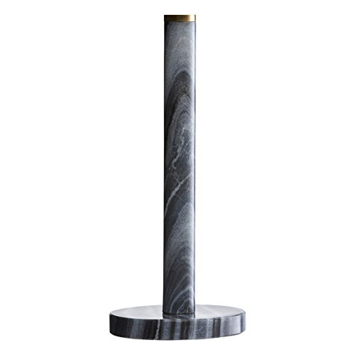 House Doctor Papierhandtuchständer Marmor, schwarz, 14 x 14 cm