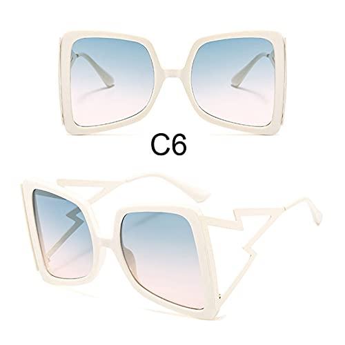 MINGQIMY Gafas de Sol Moda de Gran tamaño Forma de Arco Gafas de Sol cuadradas para Mujeres Nueva Marca de Lujo Gradiente de Marco Grande Gafas de Sol Sombras de Verano.