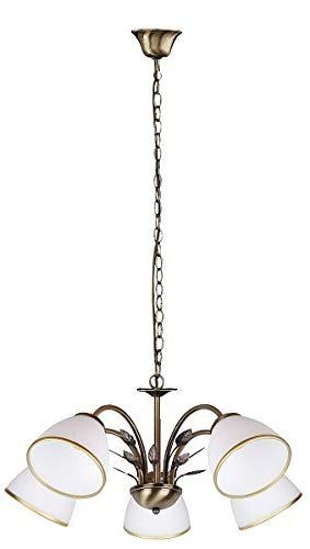 Elegante Pendelleuchte Jugendstil Glas Schirm Esszimmerlampe Wohnzimmerlampe