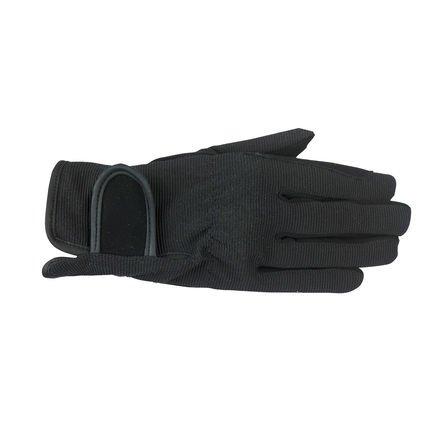 Horze Multi-Stretch Riding Gloves - Black - JR Medium