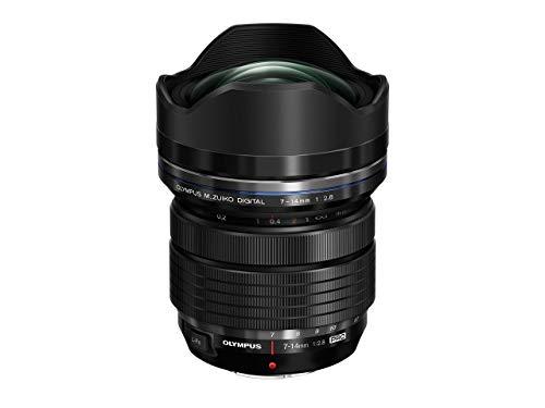 Olympus Objetivo M.Zuiko Digital ED 7-14mm F2.8 Pro, Zoom Gran Angular, Apto para Todas Las cámaras MFT (Modelos Olympus OM-D & Pen, Serie G de Panasonic), Negro
