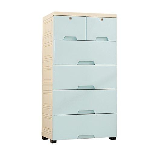 length Nachttische Schublade Aufbewahrungsbox Wohnzimmer Extra große Kleiderschrank Kunststoff-Schrank Kinder Speicher Forcer (Color : B)