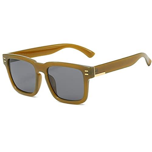 LUOXUEFEI Gafas De Sol Hombres Gafas De Sol Cuadradas De Gran Tamaño Para Hombres Gafas Negras Gafas De Sol Gafas Femeninas