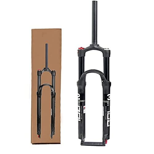 HCJGZ Horquilla De Bicicleta De Viaje De 120 Mm MTB, Horquilla Delantera con Suspensión Neumática Freno De Disco De Eje De 9 Mm Horquilla Delantera De Doble Cámara De Aire