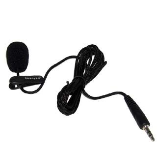 BV & Jo Mini Compact 3.5mm Jack Audio MIC Microphone for Skype Yahoo Google VoIP Windows XP/Vista/7/8/10 Webcam Vedio Internet Call Laptop PC with 1m One meters cable