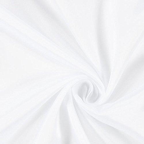 Fabulous Fabrics Futterstoff weiß, 140cm breit – zum Füttern von Jacken, Kleidern oder Mänteln - Meterware erhältlich ab 0,5 m