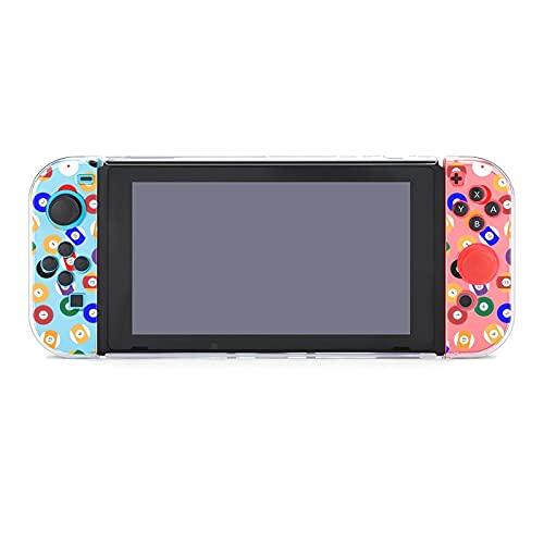 Hülle für Nintendo Switch Billard Ball Fünfteiliges Set Schutzhülle Case Kompatibel mit Nintendo Switch Spielekonsole