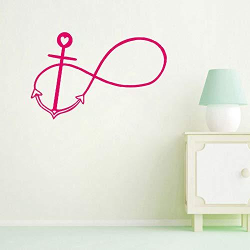 HYTR KZYV Wandaufkleber DIY kreative Kreislauf Liebe Muster Home Wohnzimmer Schlafzimmer PVC Vinyl abnehmbare Kunst dekorative wandaufkleber