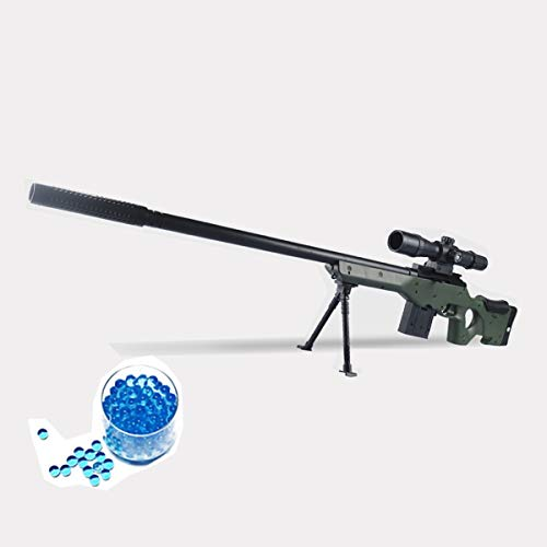 JINGYD Pistola de Juguete con Bomba de Agua, Combate Militar Rifle de Francotirador de élite, Niños al Aire Libre CS Bomba de Agua Rifle de Francotirador de Juguete +10000 Bomba de Agua