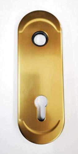 Mostrina CILINDRO EUROPEO colore bronzo-placca per porta blindata-borchia ATRA-DIERRE(mm.h.182x62).Bocchetta Compatibile con altre marche di serrature