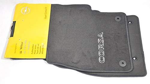 Original Opel Premium Terciopelo Alfombrillas antideslizantes para Opel Corsa D 1724072