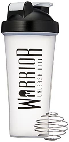 Warrior Supplements 7091 Protein Shaker Bottle 600ml - Mixball Shake Blender