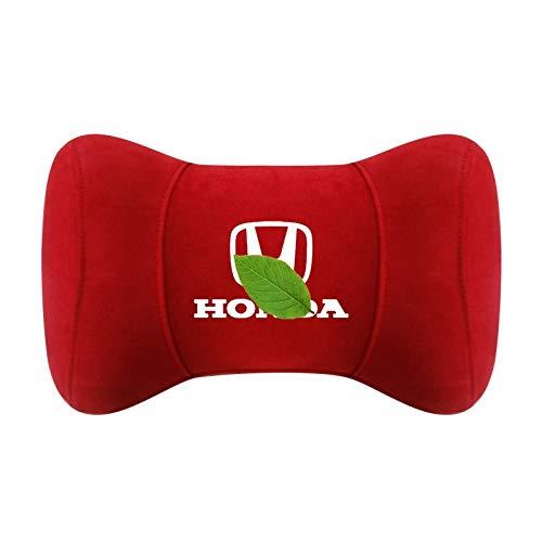 Yuting For Honda Almohada for Cuello, Coches Suede Apoyo for la Cabeza del Amortiguador de la Almohadilla del Asiento de Coche de Apoyo Almohada, con el Logotipo (Color : E)