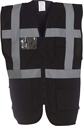 Yoko Veste de yk002/hvw801Executive multifonction haute visibilité Gilet sans manches pour femme XL noir