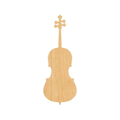 BYRON HOYLE Cello Christmas Wood Ornaments, Christmas Tree Ornament Decoration Hanging Glossy Ornaments Funny Xmas Presents Window Door Kitchen Dress up Bauble