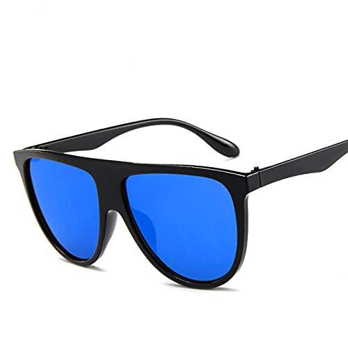ShSnnwrl Gafas De Moda Gafas De Sol Gafas De Sol Semirredondas Mujer Vintage Mujer/Hombre Gafas De Sol Clásico Uv400 Azul