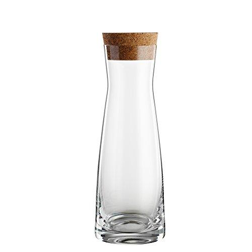 """Bohemia Cristal 093 006 148 Karaffe \""""La Bella\"""" 1000 ml aus Kristallglas mit Korkstopfen, klar"""
