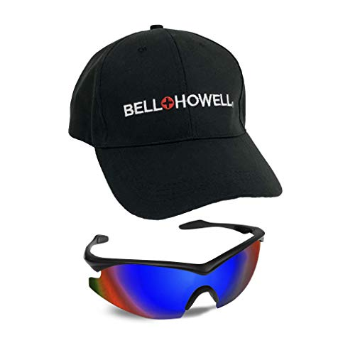 Bell + Howell Sports BLUE TAC GLASSES with Cap, Unisex, Polarized As Seen On TV