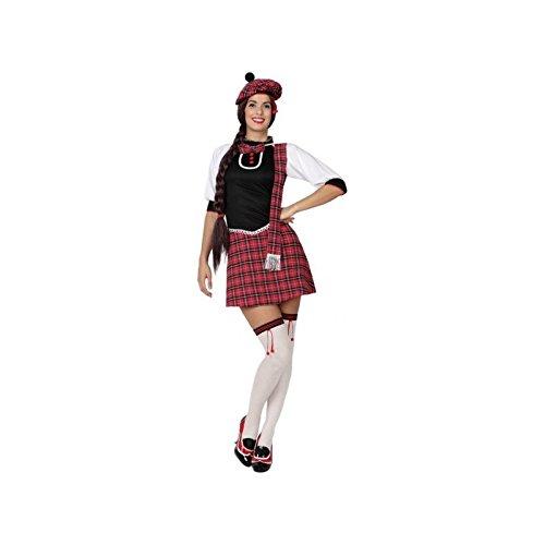 Atosa-15266 Disfraz Escocesa, color rojo, M-L (15266)