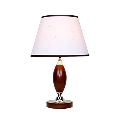 Bureaulamp, leeslamp, licht, voor slaapkamer, traditioneel bureau, van massief hout, 30 x 30 x 48 cm, kleur wit van stof