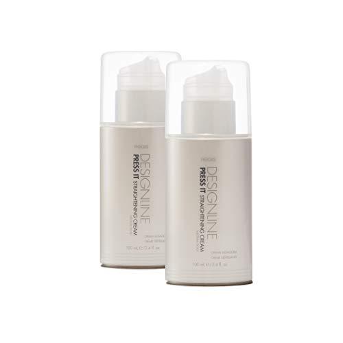 Press It Straightening Cream, 3.4 oz - Regis DESIGNLINE - Medium Hold Heat Protectant Hair Straightener Cream (3.4 oz (2 Pack))