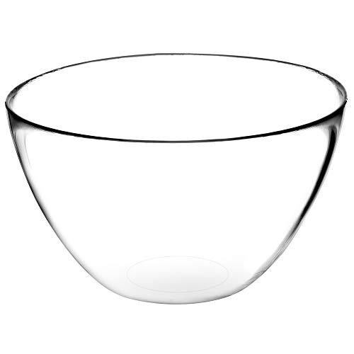 KADAX Salatschüssel, ovale Glasschale, Glasschüssel, 17 cm Durchmesser, Tiefe Schale für Süßigkeiten, Obst, Salat, Dessert, Salatschale, Obstschale, Tischdeko, transparent