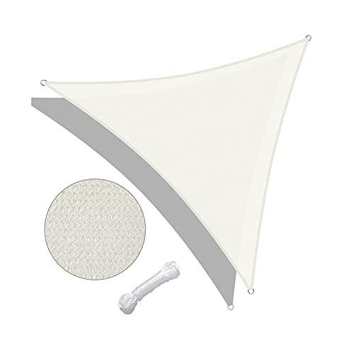 zxb-shop Lona alquitranada Parasol 16'x16'x16 'Triangle Sun Shade Spaad, Playa Umbrella Garden Patio al Aire Libre Parasol Protección de sombrilla Lona (Color : A)