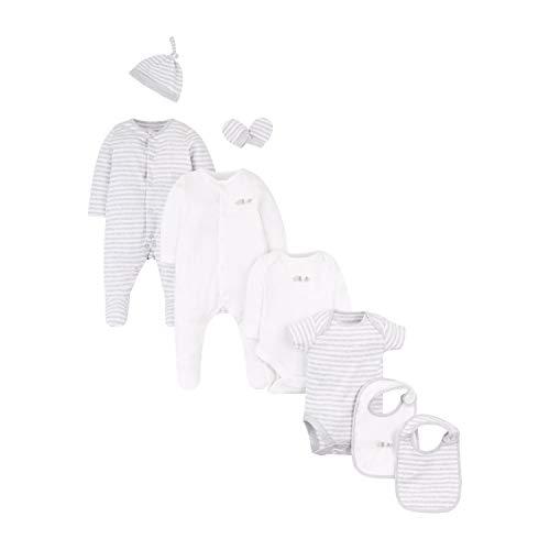 Mothercare Unisex Baby Cont 8pcs Starter Set Body, Schwarz (Grey 13), 0-3 Months (Size:62)