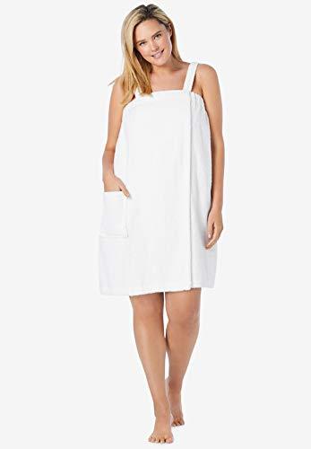 Dreams & Co. Women's Plus Size Terry Towel Wrap Robe