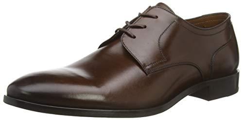 Lottusse L7217, Zapatos de Cordones Derby Hombre, Marrón (Jocker Old Teak Jocker Old Teak), 44 EU