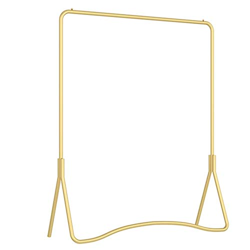 XINGLL Personality Simple Design Garment Racks,Iron Assemble Coat Stand,Clothing Storage Shelf Bedroom Hallway (Color : Gold, Size : 60cm)