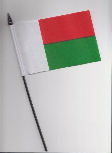 1000 Flags Madagascar Bandiera a Mano 25cm
