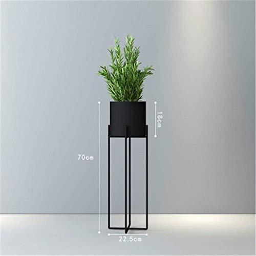 Pyrojewel moderna simplicidad Planta Planta forjado del hierro soporte verde Balcón Flor de la sala interior del estante del soporte al aire libre Patio Decoración Tiesto (Color: Negro, tamaño: 85 cm)