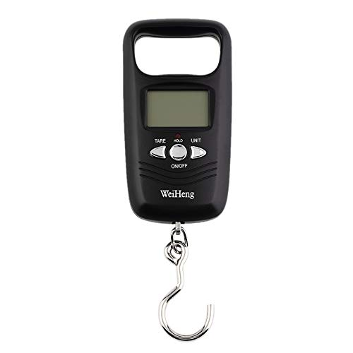 Mini colgante de bolsillo de la balanza portátil 50 kg LCD Digital equipaje colgante de pesaje de pesca escala báscula de peso electrónico