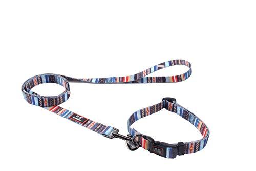 Roses&Poetry Hundehalsband, ausbruchsicher, stabil, langlebig, für Jungen- und Mädchenhunde, leicht, Outdoor-Trainingshalsband(Stripe-S)