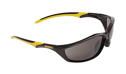 DeWalt Router humo ploycarbon gafas de seguridad, color amarillo/negro, talla única