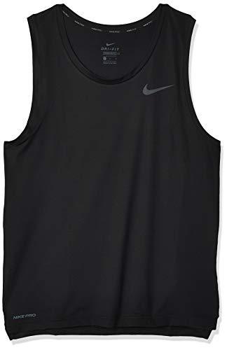 Nike M NK Top Tank HPR Dry, Canottiera Sportiva Uomo, Black/(Dark Grey), S